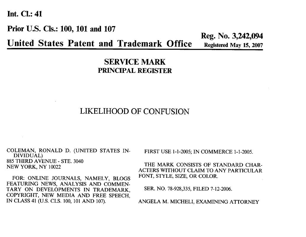 Why I Let My Trademark Registration Lapse  Likelihood Of Confusion