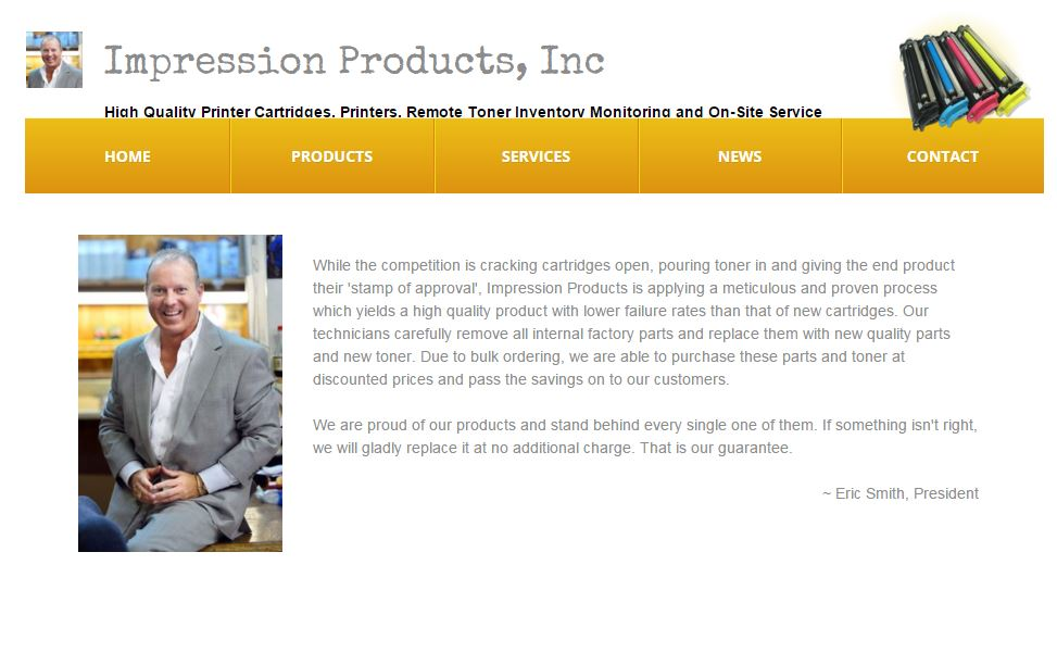 Impression Products screen shot