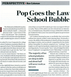 Pop Law School Bubble 277x300 The law school crackup