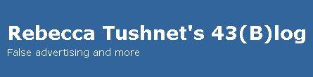 Rebecca Tushnet Blog